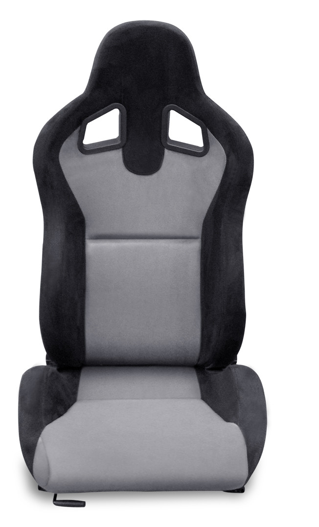 Double Or Single Slider Sport Racing Seats / Fabric Suede Racing Seats